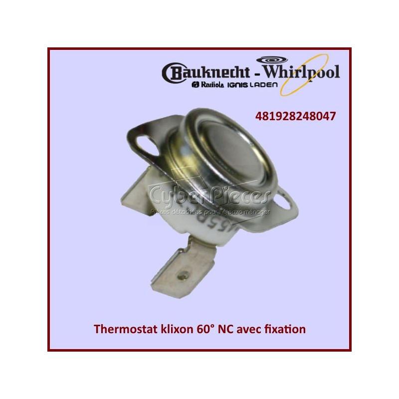 Thermostat klixon 60° NC avec fixation