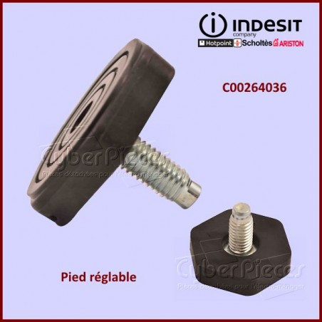 Pied réglable M8 Indesit C00264036