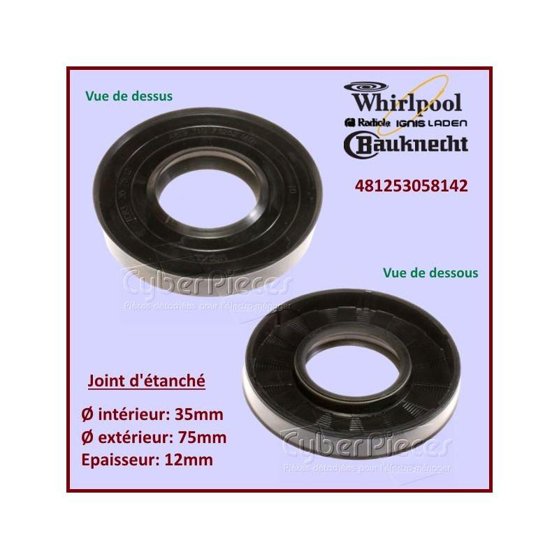 Joint d'axe 75x35x12mm Whirlpool 481253058142