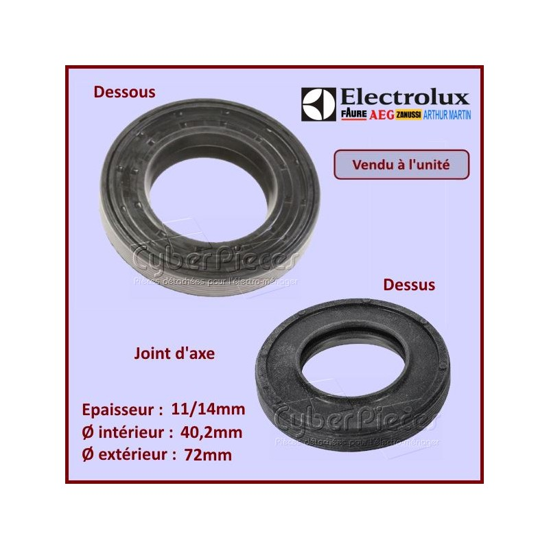 Joint d'axe 72x40,2x11/14mm Electrolux 1249667013