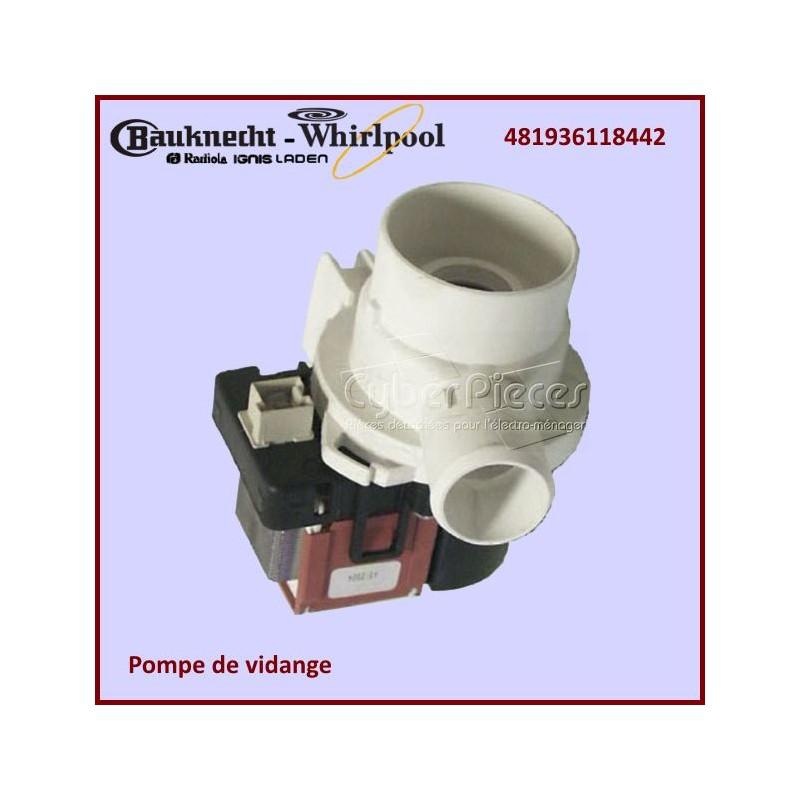 Pompe De Vidange Whirlpool 481936118442