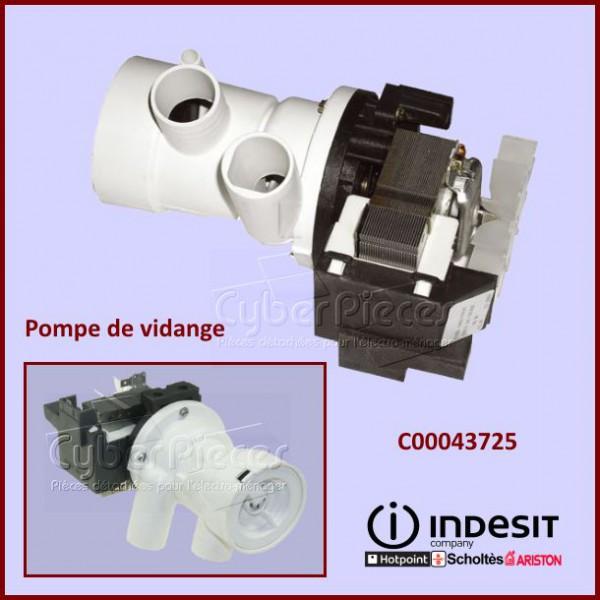 Pompe de vidange indesit c00043725 pour pompe de vidange machine a laver lavage pieces detachees - Pompe a eau machine a laver ...