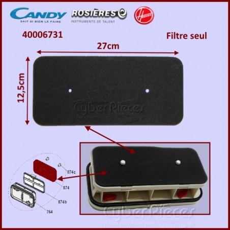 Filtre du couvercle condenseur Candy 40006731