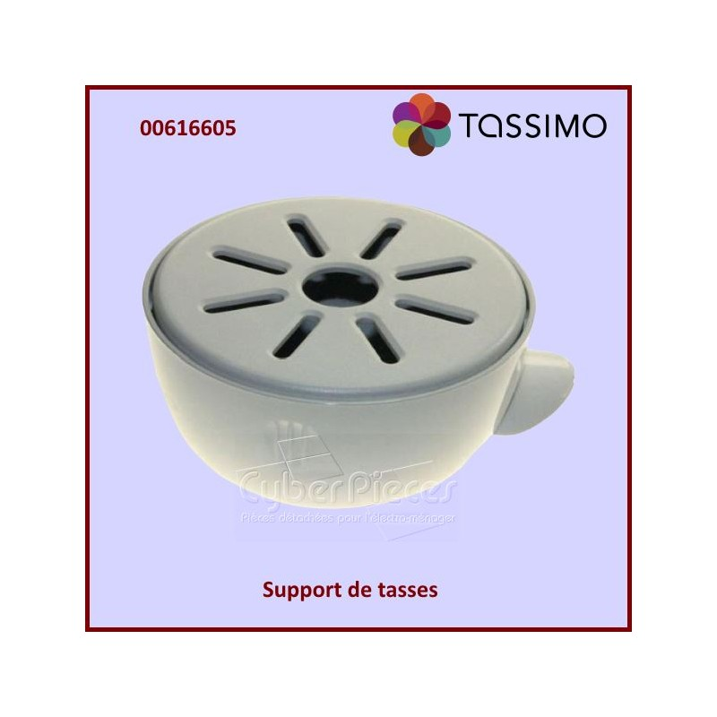 support de tasses tassimo 00616605 pour tassimo machine a dosettes petit electromenager pieces. Black Bedroom Furniture Sets. Home Design Ideas