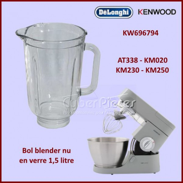 bol blender at338 en verre kenwood kw696794 pour robot menager cocotte autocuiseurs petit. Black Bedroom Furniture Sets. Home Design Ideas