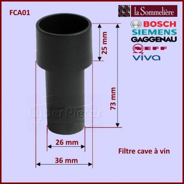 filtre cave vin la sommeli re fca01 pour refrigerateurs et congelateurs froid pieces detachees. Black Bedroom Furniture Sets. Home Design Ideas
