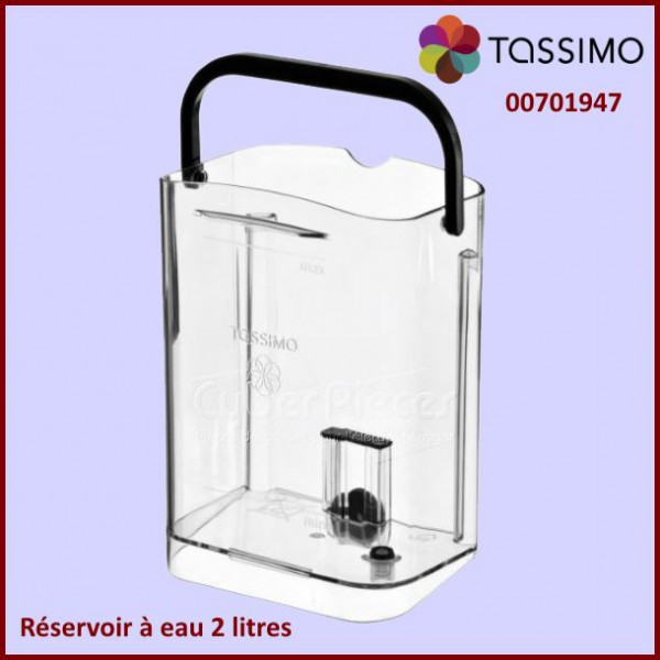 r servoir eau tassimo 00701947 pour tassimo machine a dosettes petit electromenager pieces. Black Bedroom Furniture Sets. Home Design Ideas