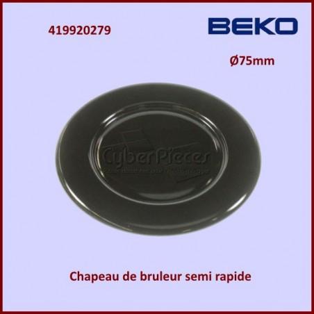 Chapeau bruleur Semi Rapide Beko 419920279
