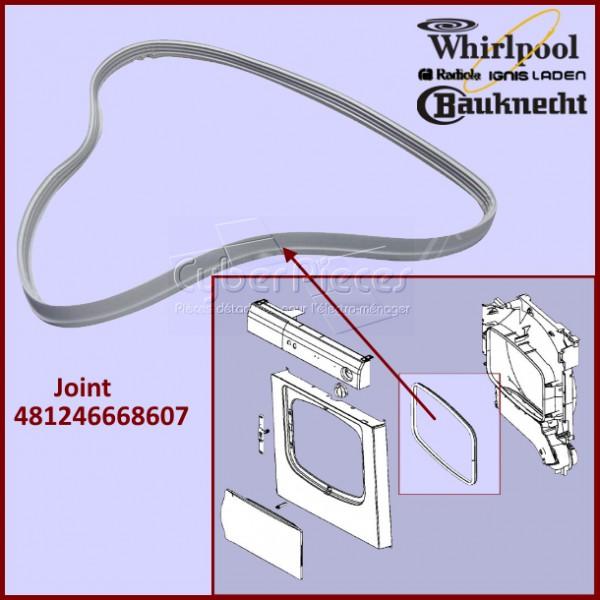 joint de porte de s che linge 481246668607 pour seche linge lavage pieces detachees electromenager. Black Bedroom Furniture Sets. Home Design Ideas