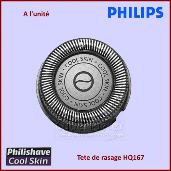 t te de rasoir philips hq167 coolskin pour hygiene petit electromenager pieces detachees. Black Bedroom Furniture Sets. Home Design Ideas