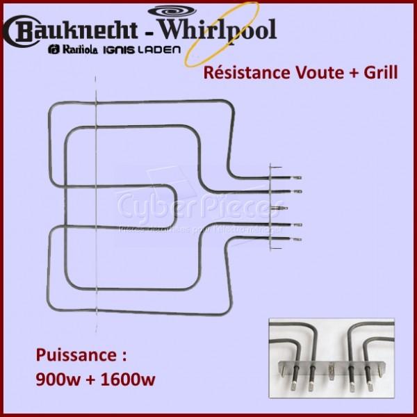 Résistance de voûte 2500W Whirlpool 481225998466