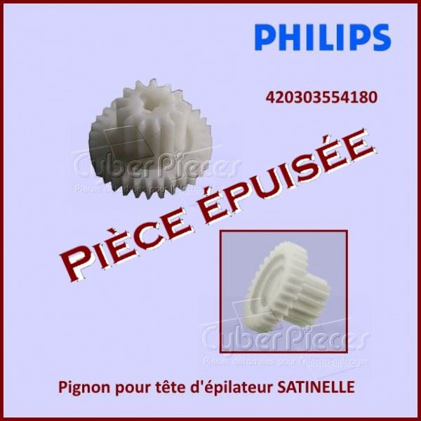 Pignon pour tête d'épilateur SATINELLE Philips  420303554180