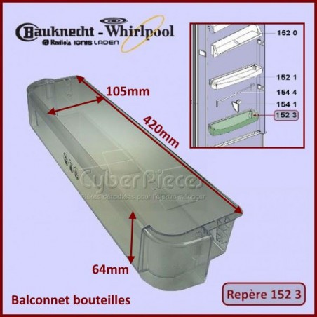 Balconnet Bouteille Whirlpool 481010471454
