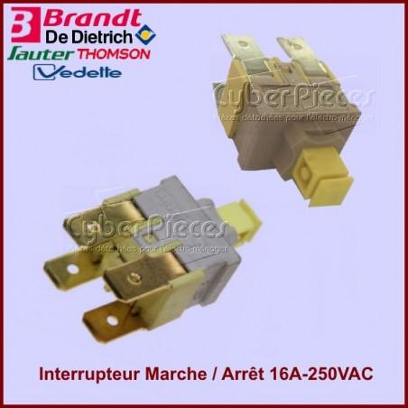 Interrupteur Marche / Arrêt 16A-250VAC