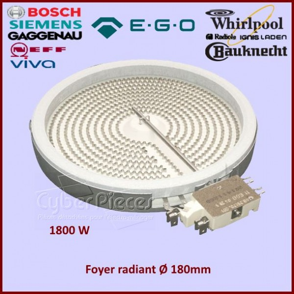 Foyer Radiant 180mm - 1800W EGO 1058113032