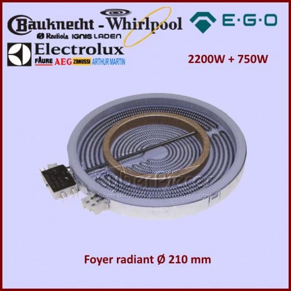Foyer Radiant 210mm double zone 2200+750W Ego 1051211004