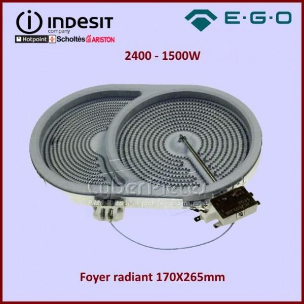 Foyer radiant 170X265mm 2400-1500W Indesit C00098934
