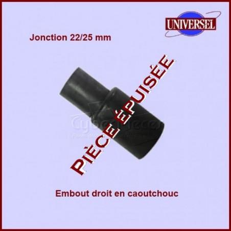Embout droit tuyau de vidange 22/25mm***Pièce épuisée***