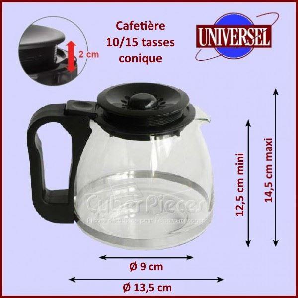 Verseuse Conique Noire 10-15 Tasses