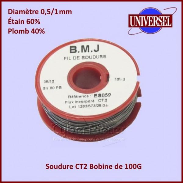 Soudure Etain 100g  diam 0,5/1mm