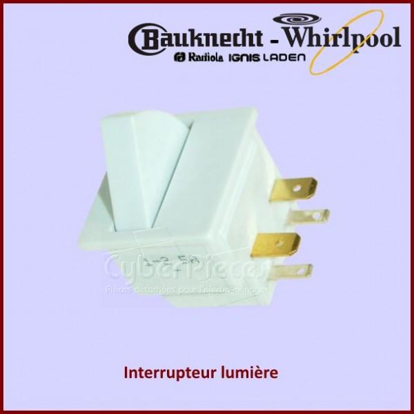 Interrupteur lumière Whirlpool 481203688001