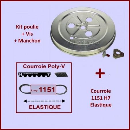 Courroie 1151h7 + Kit Poulie