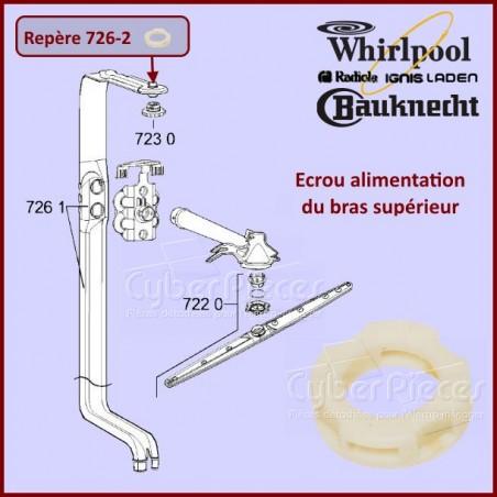 Ecrou de l'alimentation du bras de lavage Whirlpool 481250518208