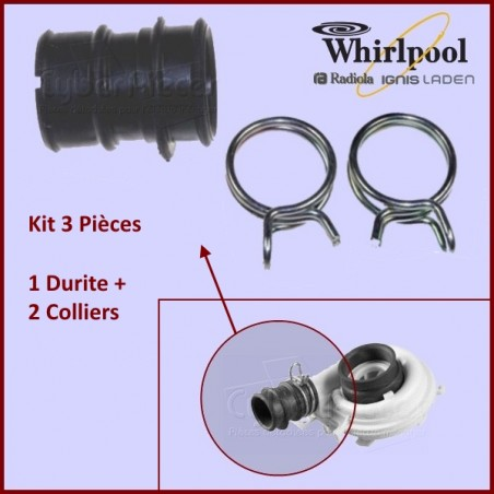 Kit de réparation turbine Whirlpool 481253029437