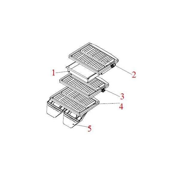 Clayette du milieu ( N° 3) Daewoo 3017822000