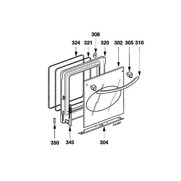vitre exterieur de porte pour fours ou cuisini res cuisson accueil cyber pi ces. Black Bedroom Furniture Sets. Home Design Ideas