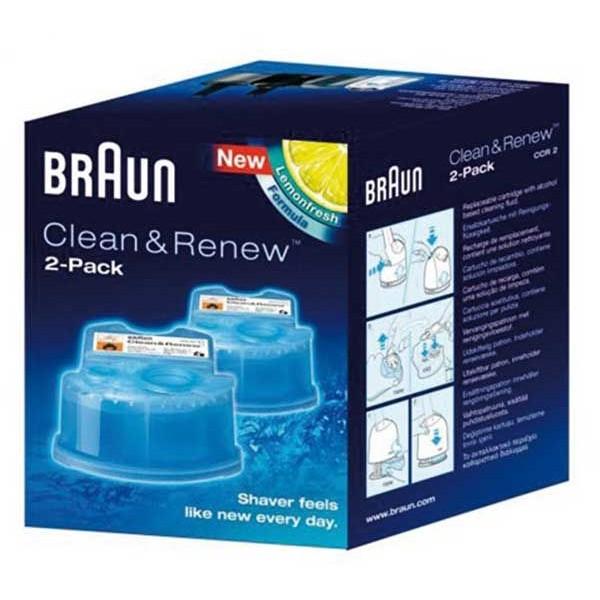 Cartouche Recharge CCR2 Braun Gel Nettoyant X2  - 65331707
