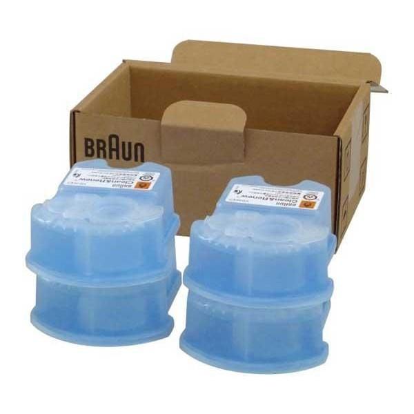 cartouche recharge ccr4 braun gel nettoyant x4 81387055 pour hygiene petit electromenager. Black Bedroom Furniture Sets. Home Design Ideas