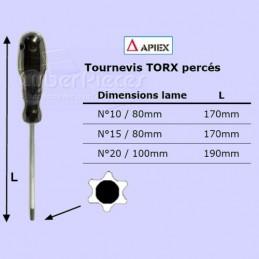 Tournevis Torx percé n°15 -...
