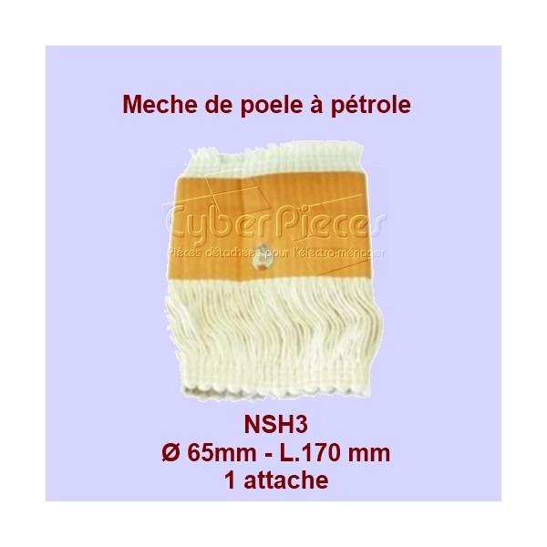 NSH3 Mèche de poêle à pétrole 1 attache HM65- 65x170mm