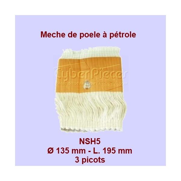 NSH5 Mèche de poêle à pétrole 3 picots- RCA86 - 135x195mm