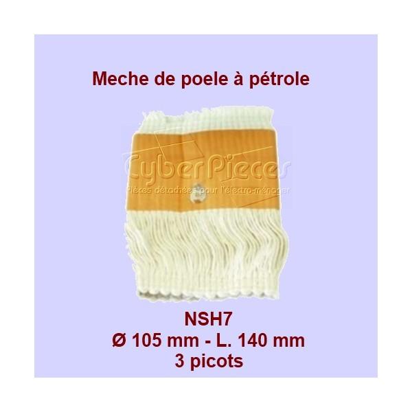 NSH7 Mèche de poêle à pétrole 3 picots- Rca200 - 105x140mm
