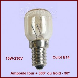 Ampoule 15w E14 de -30° à +300° CYB-015509