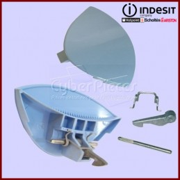 Poignée bleue de hublot Indesit C00076447 CYB-041997