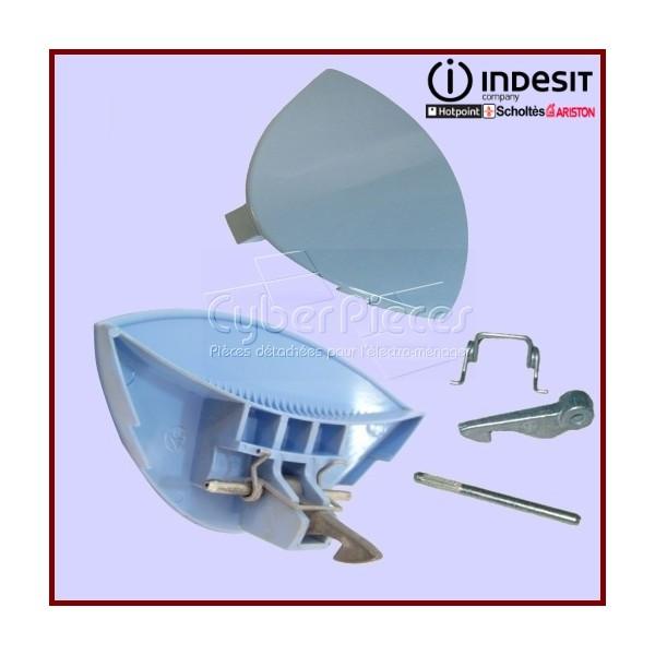 Poignée bleue de hublot Indesit C00076447