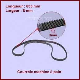 Courroie 633mm machine à pain - QD780A -500588602 CYB-036696