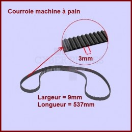Courroie 537mm machine à pain - SS-186171 CYB-036627