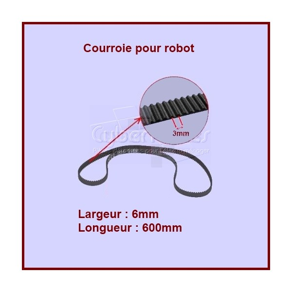 Courroie robot 600 mm   - KW644959