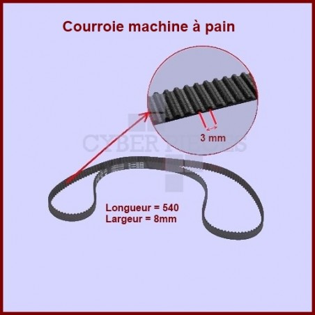 Courroie 540mm machine à pain