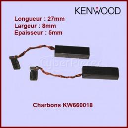 Lot de 2 charbons Kenwood - 8x5x27 - KW660018 CYB-371438