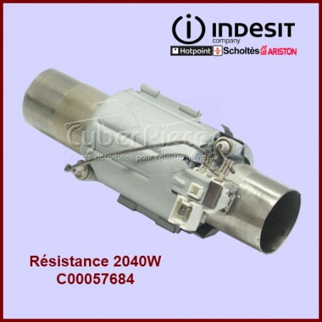 Tube de chauffe 2000W Indesit C00057684