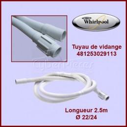 Tuyau de vidange 2.10m Whirlpool 481253029113 CYB-084420