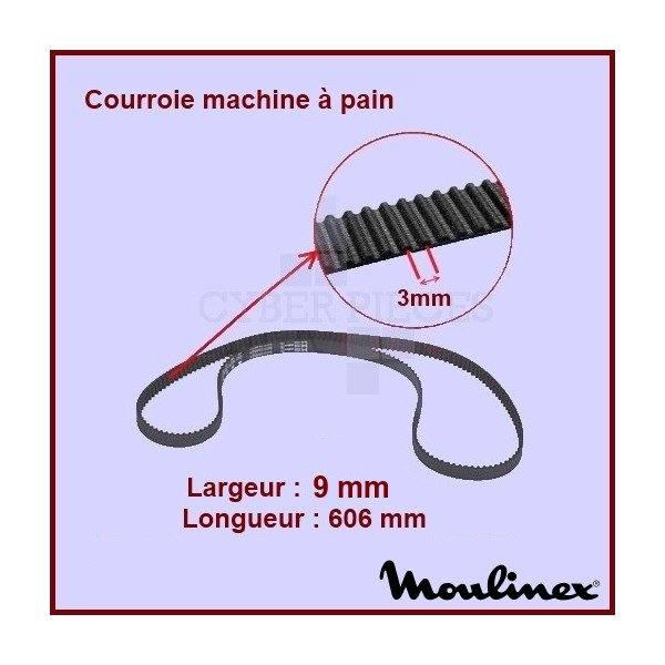 Courroie 606mm machine à pain SS-186934