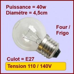 Lampe Sphérique E27 - 40w - 130v CYB-053686