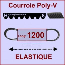 Courroie 1200H8 - EL- élastique CYB-005104