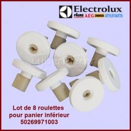 Lot de 8 roulettes inférieures blanches Electrolux 50269971003 CYB-089029